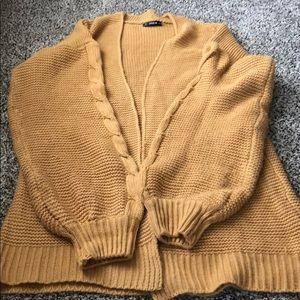 Mustard yellow/brown oversized cardigan medium